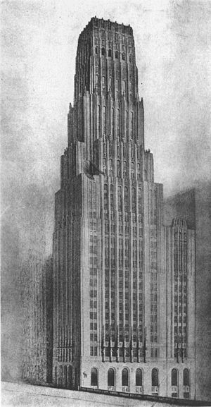 Eliel Saarinen's Tribune Tower design - Eliel Saarinen's unbuilt 1922 skyscraper design