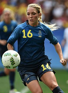 Elin Rubensson Swedish footballer