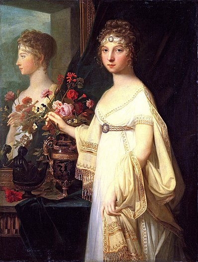 Elizabeth Alexeevna with mirror by J.L.Mosnier (1802, Tretyakov gallery)