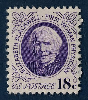 Elizabeth Blackwell - Blackwell was commemorated on a U.S. postage stamp in 1974, designed by Joseph Stanley Kozlowski. Syracuse University Medical School collection.