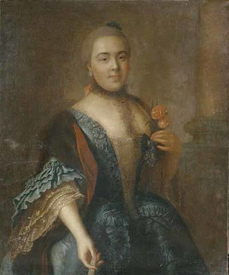 Elizaveta Vorontsova - A portrait by Aleksey Antropov. The sitter is sometimes identified as Elizaveta Vorontsova.