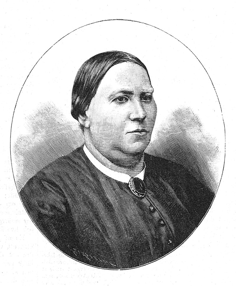 Elna Hansson. Xylografi av Gunnar Forssell i Idun, nr 6 1891