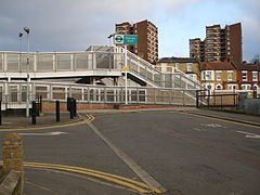 Elverson Road DLR station southwest entrance.JPG
