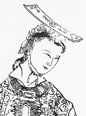 Wu Zetian - A depiction of Wu, from Empress Wu of the Zhou, published circa 1690