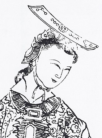 Wu Zetian - A depiction of Wu, from Empress Wu of the Zhou, published circa 1690