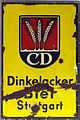 Enamel advertising sign, Dinkelacker Bier Stuttgart.jpg