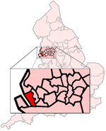 The location of Liverpool