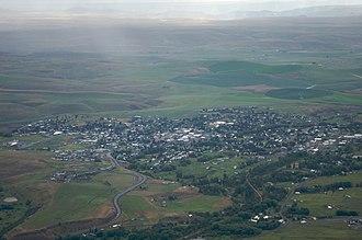 Enterprise, Oregon - Aerial view of Enterprise