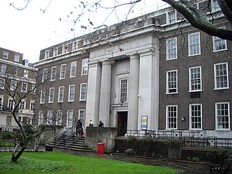 Euston Road - The Friends House, No. 173 Euston Road (side entrance shown)