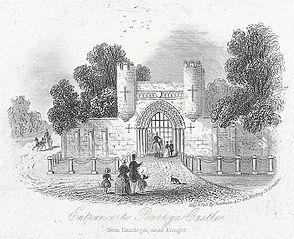 Entrance to Penrhyn Castle, from Llandegai, near Bangor