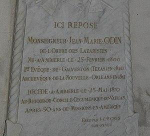 Jean-Marie Odin - Image: Epitaphe JM Odin