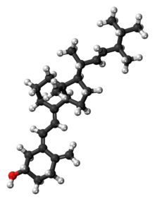 Ball-and-stick model of the ergocalciferol molecule