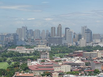 Ermita - The skyline of Ermita with Intramuros in the foreground