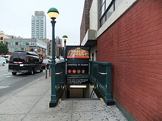 Delancey Street/Essex Street (New York City Subway) - Stair at southeast corner of Essex and Delancey