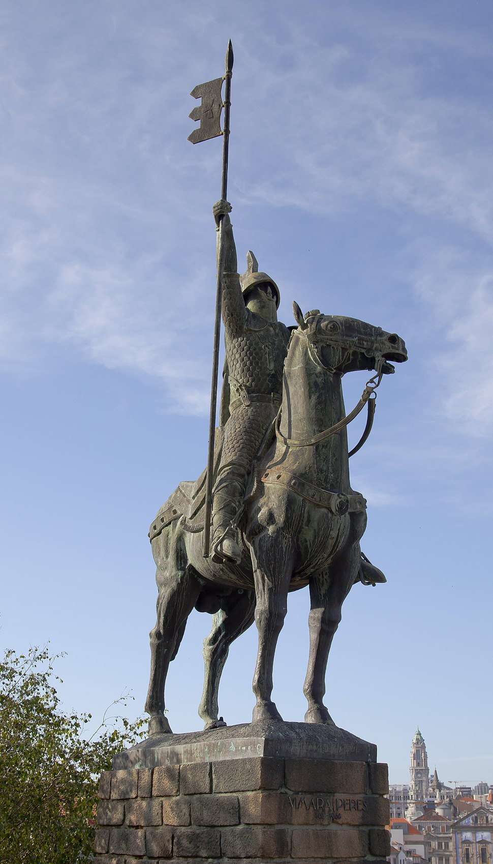 Estatua de Vimara Peres, Oporto, Portugal, 2012-05-09, DD 02