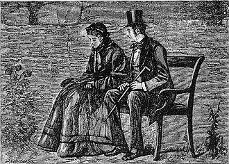 Estella (Great Expectations) - Estella and Pip. Art by F. A. Fraser.