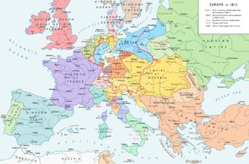 Carte De Leurope Avec La Hollande.Congres De Vienne Wikipedia