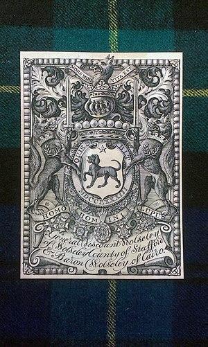 Garnet Wolseley, 1st Viscount Wolseley - Ex ibris with his coat of arms