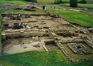English: Excavations at Vindolanda Roman Fort ...
