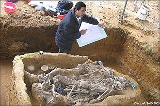 Guatemalan genocide - Excavation of the corpses of victims of the Guatemalan Civil War.