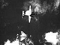 F-4B Phantom of VF-213 and VAW-114 E-2A Hawkeye off Vietnam 1968.jpg