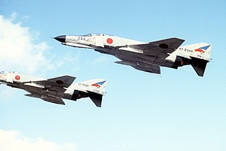 Defection of Viktor Belenko - Image: F 4EJ (344 & 321) of 302 Sqn fly over Misawa Air Base during Cope North exercise, 30 Nov. 1978 a