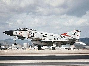 VF-121 - VF-121 F-4J lands at NAS Miramar in 1978