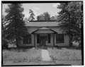 FRONT ELEVATION OF LODGE, LOOKING SOUTH - Lowell Observatory, Lodge, Flagstaff, Coconino County, AZ HABS ARIZ,3-FLAG,1F-1.tif