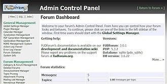 FUDforum - FUDforum's Admin Control Panel.