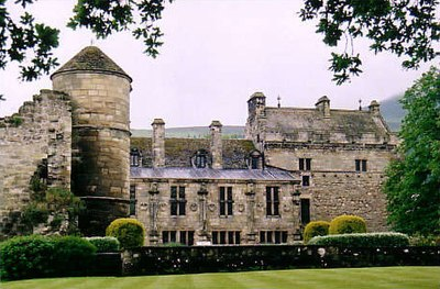 Falkland Palace, where Robert Stewart's nephew, the Duke of Rothesay, died in mysterious circumstances. Falkland Palace.jpg