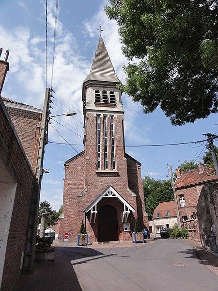 Famars (Nord,Fr) église de l'Assomption-de-Marie