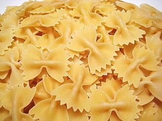 Farfalle - Uncooked farfalle pasta