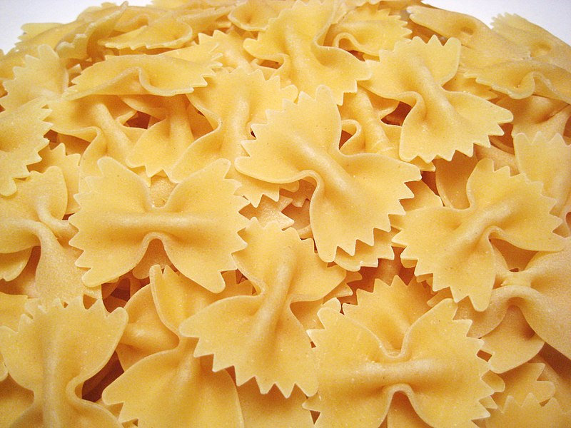 Farfalle Pastas taken from Wikimedia Commons