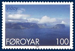 Stamp FR 349 of Postverk Føroya (issued: 25 May 1999; photo: Per á Hædd)
