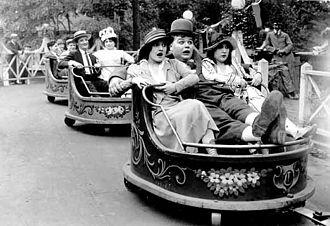 "Coney Island (1917 film) - Fatty rides ""The Whip"" in Coney Island"