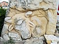 Fencepost limestone Sculpture (Hereford), Fossil Station convenience store, Russell, Kansas 20180623.jpg
