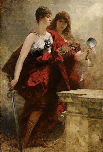 Ferdinand Keller (painter) - Image: Ferdinand von Keller Studie zur Apotheose Kaiser Wilhelms I 1888