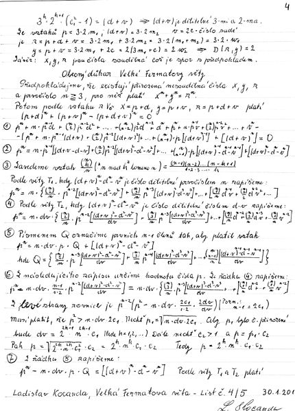 the history of fermats last theorem essay 1 fermat discovered and applied the method of infinite descent, which, in particular can be used to prove fermat's last theorem for n=4 this method can actually be used to prove a stronger statement than fermat's last theorem for n=4, viz x4 + y4 = z2 has no non-trivial integer solutions.