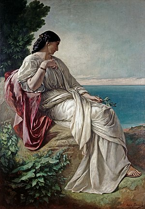 Anselm Feuerbach - Iphigenia, first (1862) version (Hessisches Landesmuseum Darmstadt)