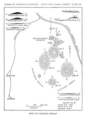 Fewkes Group Archaeological Site - 1920 Map of Fewkes Group
