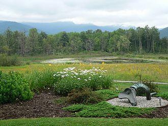 Field Farm (Williamstown, Massachusetts) - Sculpture and pond at Field Farm