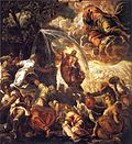 File-Tintoretto, Jacopo - Moses Striking Water from the Rock - 1577 - 122kb.jpg