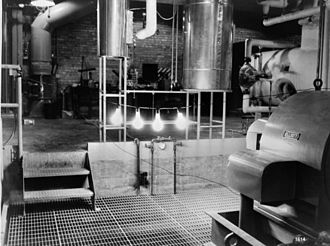 Nuclear power - The first light bulbs ever lit by electricity generated by nuclear power at EBR-1 at Argonne National Laboratory-West, December 20, 1951.