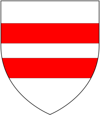 Martin (name) - Arms of FitzMartin, feudal barons of Barnstaple in Devon and Lords of Cemais in Wales: Argent, two bars gules