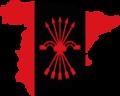 Flag Map of Spain (Falangist).png