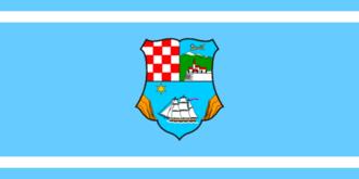 Bakar - Image: Flag of Primorje Gorski Kotar County