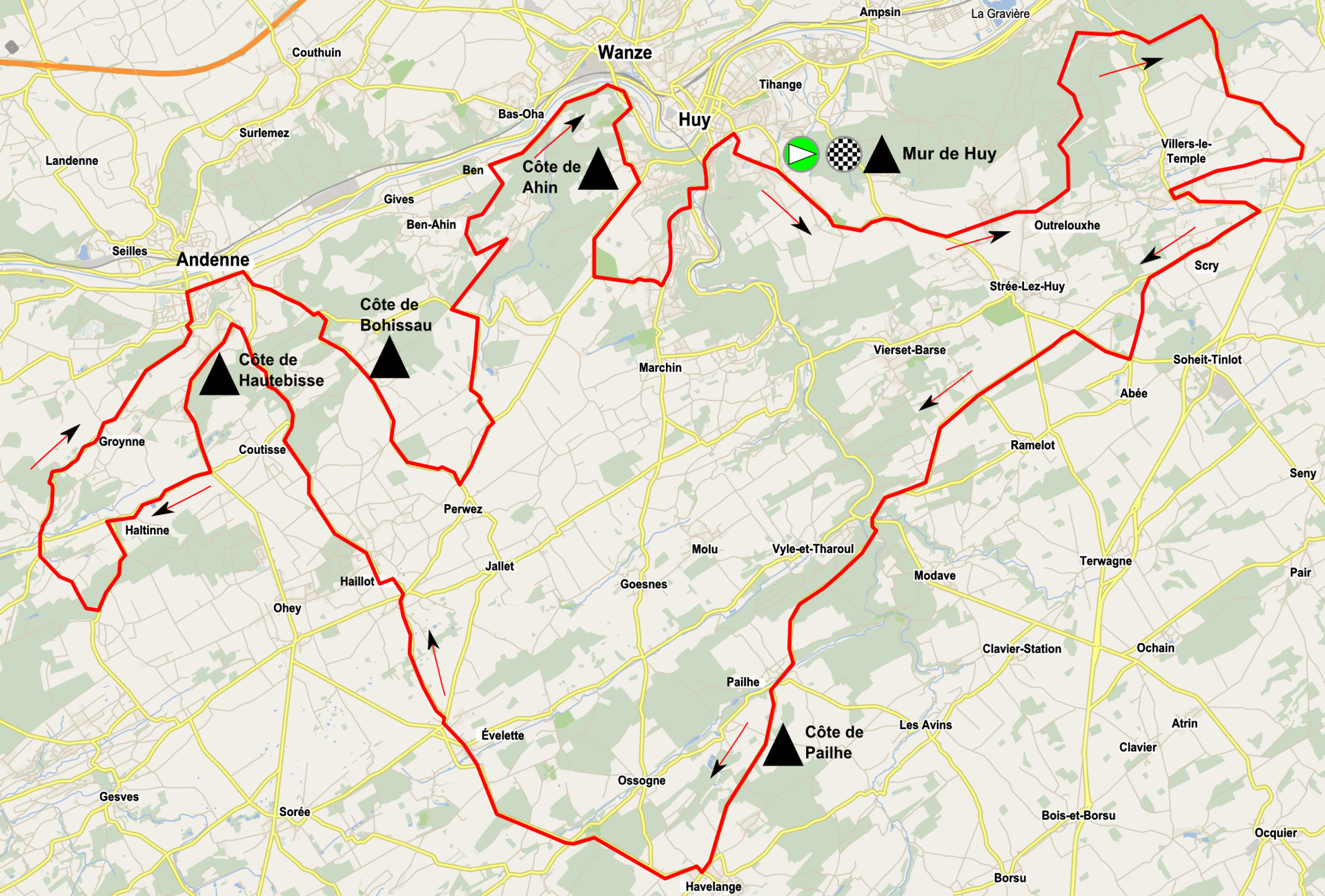 cyclisme route fleche wallonne liste engages depart