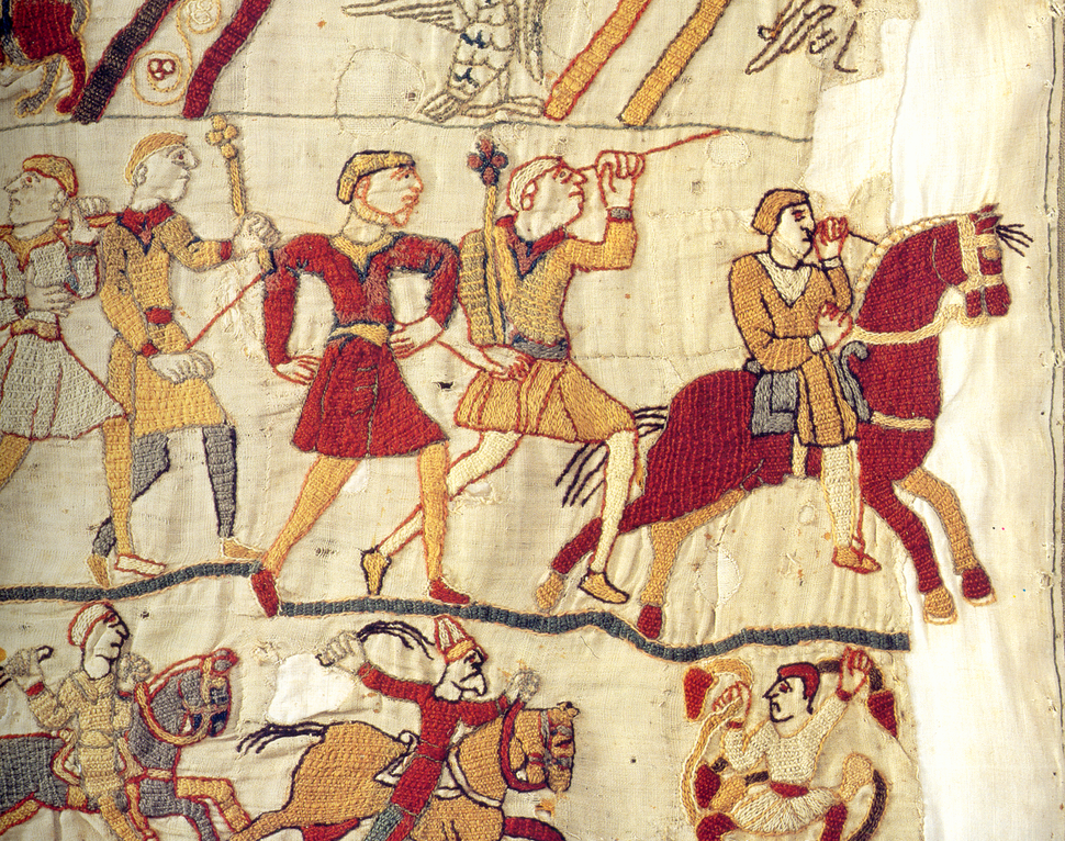 Fleeing bayeux tapestry