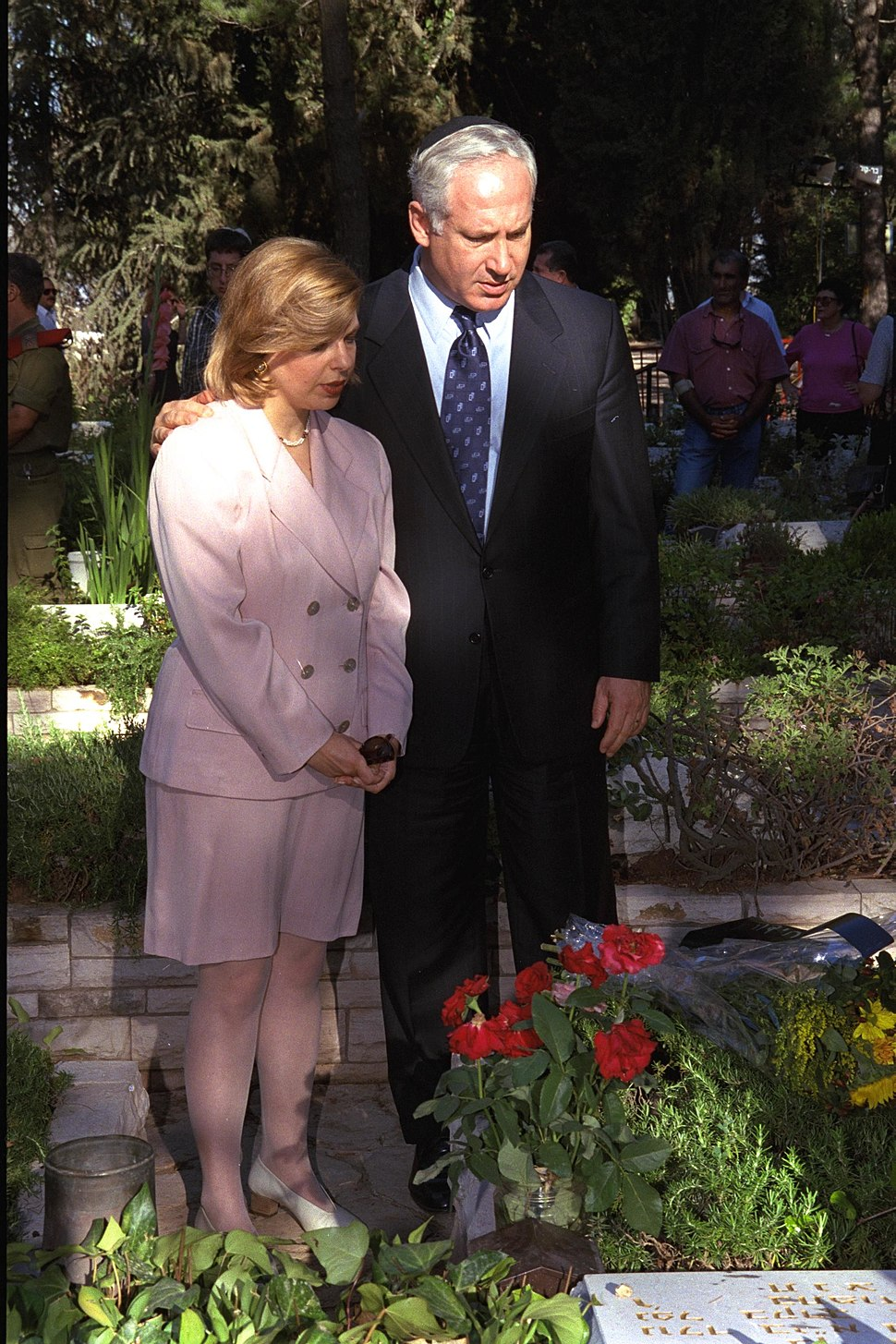 Flickr - Government Press Office (GPO) - P.M. Netanyahu at Memorial Service for Yoni