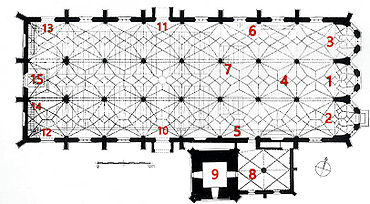 Floor-plan Parish church St. Martin (Lauingen).jpg